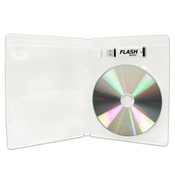 USDM Flash Pac® Case USB Flash Drive + Disc Super Clear w/Logo