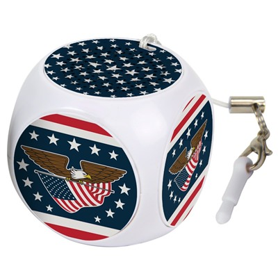 White USA Flag Cubio Mini Bluetooth® Speaker