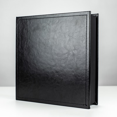 "Black Leather Impression Photo & USB Box for 4""x6"" Photos"